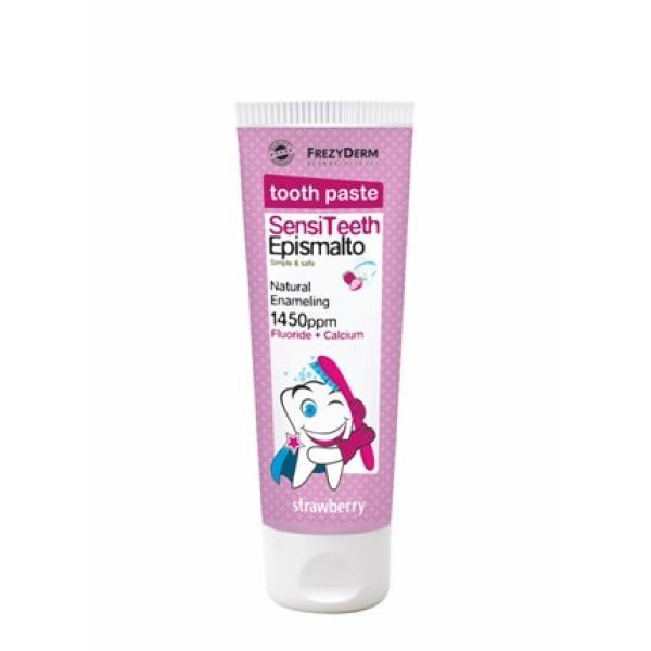Frezyderm SensiTeeth Epismalto Toothpaste 1.450PPM 50ml (Παιδική οδοντόκρεμα φυσικής επισμάλτωσης με Φθόριο 1450ppm και Ασβέστιο)