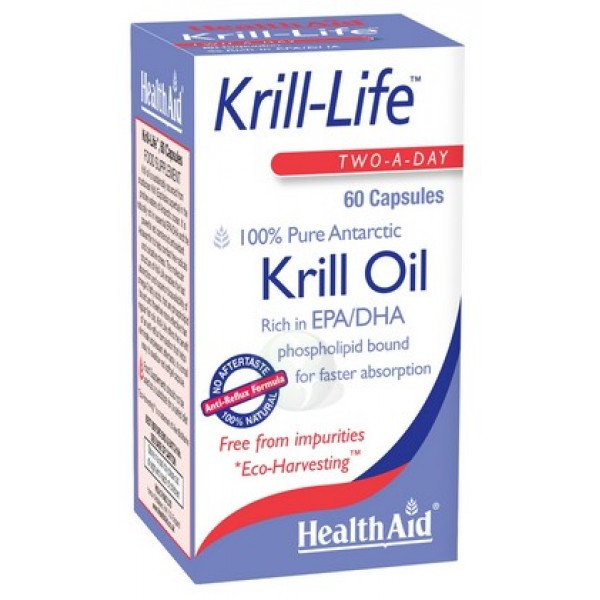 Health Aid Krill-Life 100% Pure Antarctic 60caps