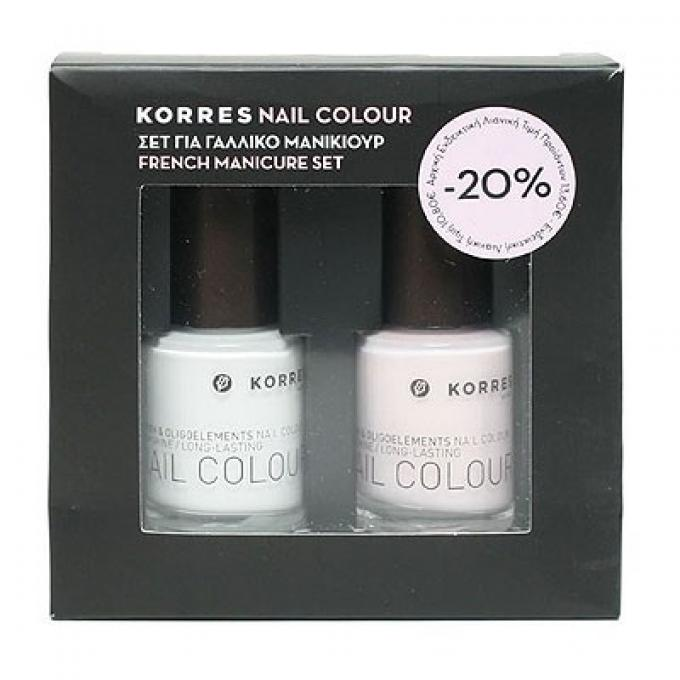 Korres Nail Colour Σετ για Γαλλικό Μανικιούρ (00 White 10ml,08 Candy Scallop 10m it s christmas time    ιδέες για χριστουγεννιάτικα δώρα   χριστουγεννιάτικα δώρα