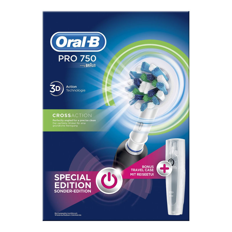 Oral-B Ηλεκτρική Οδοντόβουρτσα Pro 750 CrossAction Special Edition Black + Trave it s christmas time    ιδέες για χριστουγεννιάτικα δώρα   χριστουγεννιάτικα δώρα
